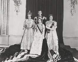 Queen Elizabeth II; Prince Philip, Duke of Edinburgh, Princess Margaret, Queen Elizabeth, the Queen Mother, by Unknown photographer - NPG P1657