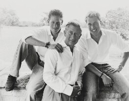 Prince Harry, Duke of Sussex; Prince Charles; Prince William, Duke of Cambridge, by Mario Testino, 2004 - NPG  - © Mario Testino