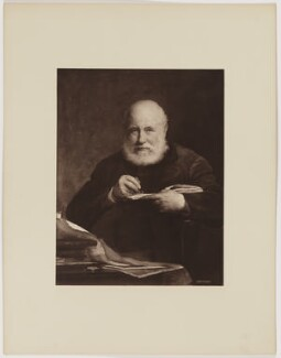Sir George Scharf, by Henry Dixon & Son, after  Walter William Ouless - NPG D40567