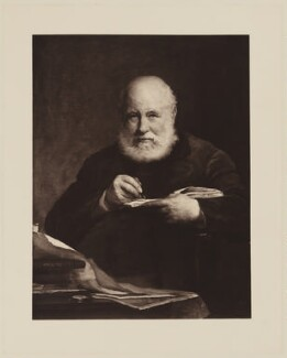 Sir George Scharf, by Henry Dixon & Son, after  Walter William Ouless - NPG D40569