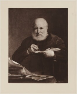 Sir George Scharf, by Henry Dixon & Son, after  Walter William Ouless - NPG D40570