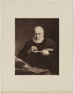 Sir George Scharf, by Henry Dixon & Son, after  Walter William Ouless, 1889 (1885) - NPG D40571 - © National Portrait Gallery, London