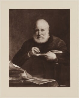 Sir George Scharf, by Henry Dixon & Son, after  Walter William Ouless - NPG D40572