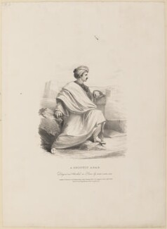 'A Bedouin Arab', by Richard James Lane, printed by  Engelmann, Graf, Coindet & Co, published by  Engelmann, Graf, Coindet & Co - NPG D40575