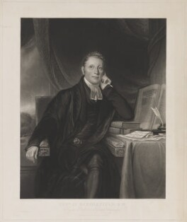 James Scholefield, by J.B. Hunt, printed by  Thomas Brooker, published by  Robert Roe, after  George Francis Joseph - NPG D40576