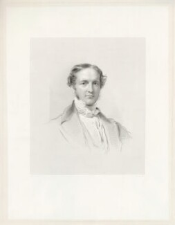 William Hickling Prescott, by Francis Holl, after  George Richmond - NPG D40491