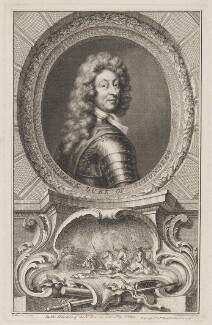 Frederick Herman de Schomberg, 1st Duke of Schomberg, by Jacobus Houbraken, published by  John & Paul Knapton, after  Sir Godfrey Kneller, Bt - NPG D40578