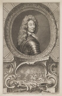 Frederick Herman de Schomberg, 1st Duke of Schomberg, by Jacobus Houbraken, published by  John & Paul Knapton, after  Sir Godfrey Kneller, Bt - NPG D40579