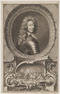 Frederick Herman de Schomberg, 1st Duke of Schomberg, by Jacobus Houbraken, published by  John & Paul Knapton, after  Sir Godfrey Kneller, Bt - NPG D40580