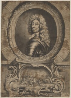 Frederick Herman de Schomberg, 1st Duke of Schomberg, by Andrew Miller, after  Sir Godfrey Kneller, Bt - NPG D40581