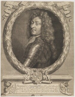 Frederick Herman de Schomberg, 1st Duke of Schomberg, by Peter Vanderbank (Vandrebanc), after  Sir Godfrey Kneller, Bt - NPG D40582