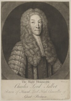 Charles Talbot, 1st Baron Talbot of Hensol, by and published by Gerhard Bockman, after  John Vanderbank - NPG D40537