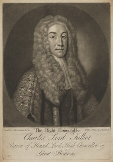 Charles Talbot, 1st Baron Talbot of Hensol, by Gerhard Bockman, published by  Carington Bowles, after  John Vanderbank, circa 1737, published 1763-1793 - NPG D40538 - © National Portrait Gallery, London