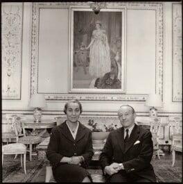 Celeste Lelia Beatrix (née Shoucair), Lady Roberts; Sir Frank Kenyon Roberts, by Ida Kar - NPG x134753
