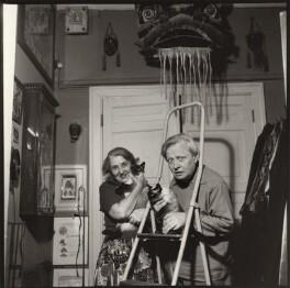 Sergey Vladimirovich Obraztsov with his wife, by Ida Kar - NPG x134755