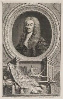 Charles Talbot, 1st Baron Talbot of Hensol, by Jacobus Houbraken, published by  John & Paul Knapton, after  John Vanderbank - NPG D40539