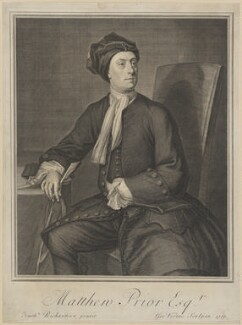 Matthew Prior, by George Vertue, after  Jonathan Richardson - NPG D40755