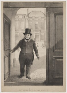 William Scivier ('Entrance Gate British Museum'), by Alexander O'Driscoll, after  Elijah Shaw - NPG D40585