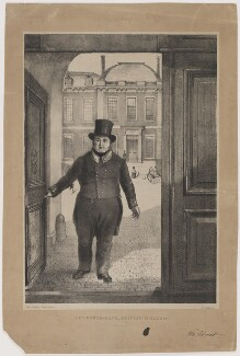 William Scivier ('Entrance Gate British Museum'), by Alexander O'Driscoll, printed by  Joseph Netherclift, after  Elijah Shaw - NPG D40586