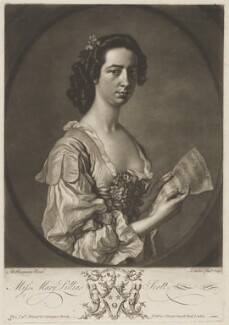 Mary Lillias Scott, by John Faber Jr, printed for  Carington Bowles, after  Allan Ramsay - NPG D40592