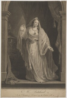 Mrs Pritchard in the Character of Hermione in the Winters Tale (Hannah Pritchard (née Vaughan)), by Simon François Ravenet, and by  François-Germain Aliamet, after and published by  Robert Edge Pine - NPG D40761