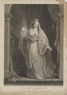 Mrs Pritchard in the Character of Hermione in the Winters Tale (Hannah Pritchard (née Vaughan)), by Simon François Ravenet, and by  François-Germain Aliamet, after and published by  Robert Edge Pine - NPG D40762
