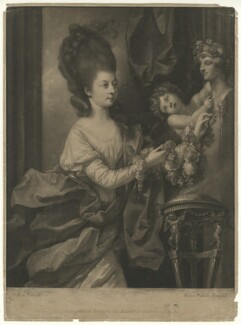 Mary (née Palmer), Lady Beauchamp-Procter, by James Watson, after  Benjamin West - NPG D40765