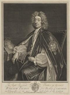 William Talbot, by George Vertue, after  Sir Godfrey Kneller, Bt - NPG D40805