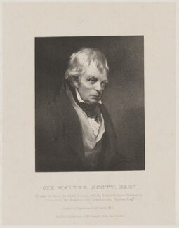 Sir Walter Scott, 1st Bt, by Richard James Lane, printed by and published by  Engelmann, Graf, Coindet & Co, after  John Prescott Knight - NPG D40598