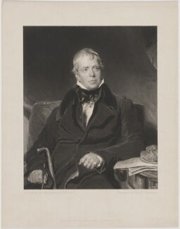 Sir Walter Scott, 1st Bt, by John Henry Robinson, published by  Moon, Boys & Graves, after  Sir Thomas Lawrence - NPG D40599