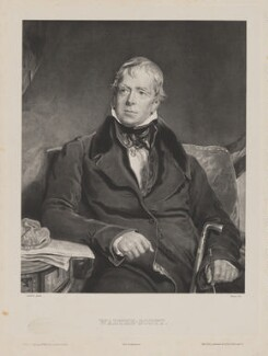 Sir Walter Scott, 1st Bt, by Belnos, printed by  Lemercier, published by  Bailly Ward & Co, published by  Vor. Morlot, after  Sir Thomas Lawrence - NPG D40602