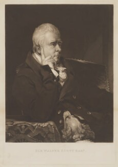 Sir Walter Scott, 1st Bt, by Samuel William Reynolds, after  Thomas Phillips - NPG D40605