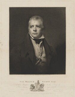 Sir Walter Scott, 1st Bt, by and published by William Walker, printed by  McQueen (Macqueen), after  Sir Henry Raeburn, published 1 October 1826 - NPG D40609 - © National Portrait Gallery, London