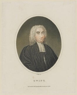 Jonathan Swift, by J. Pass, after  Francis Bindon - NPG D40799
