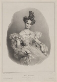 Miss Sydney, by Meuret, published by  Paul and Dominic Colnaghi & Co, after  Alfred Edward Chalon - NPG D40881