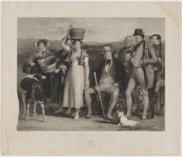 'The Abbotsford family' (Sir Walter Scott, 1st Bt), by Robert Graves, published by  Hodgson & Graves, after  Sir David Wilkie - NPG D40616