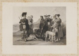 'The Death of the Red Deer', by Peter Lightfoot, after  Sir David Wilkie - NPG D40617