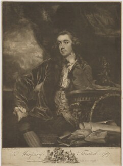 Francis Russell, Marquess of Tavistock, by James Watson, published by  John Boydell, after  Sir Joshua Reynolds, published 24 November 1767 (1765-1766) - NPG D40827 - © National Portrait Gallery, London