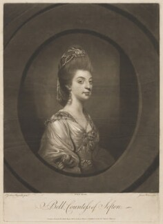 Isabella Molyneux (née Stanhope), Countess of Sefton, by James Watson, printed for and published by  Robert Sayer, after  Sir Joshua Reynolds - NPG D40634