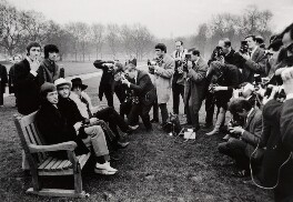 The Rolling Stones in Green Park, by Peter Stone, for  Daily Mirror - NPG x134772