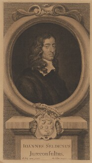 John Selden, by George Vertue, after  Sir Peter Lely - NPG D40641
