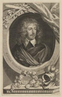 Sir John Suckling, by George Vertue, after  Sir Anthony van Dyck - NPG D40893