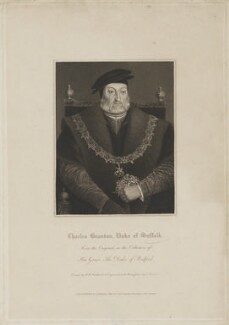 Charles Brandon, 1st Duke of Suffolk, by Edward Scriven, published by  Lackington, Allen & Co, and published by  Longman, Hurst, Rees, Orme & Brown, after  Robert William Satchwell, after  Unknown artist, published circa 1816 (circa 1540-1545) - NPG D40896 - © National Portrait Gallery, London