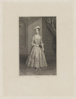 Henrietta Howard (née Hobart), Countess of Suffolk, by Edward Scriven, after a painting attributed to  Thomas Gibson - NPG D40900