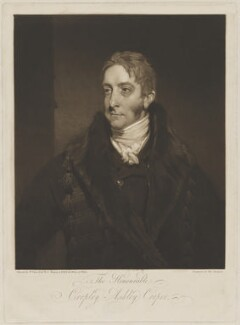 Cropley Ashley-Cooper, 6th Earl of Shaftesbury, by Thomas Hodgetts, after  William Owen - NPG D40660