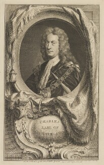 Charles Spencer, 3rd Earl of Sunderland, by Jacobus Houbraken, published by  John & Paul Knapton, possibly after  Sir Godfrey Kneller, Bt - NPG D40909