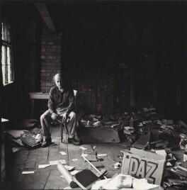 Gustav Metzger practicing for a public demonstration of Auto-destructive art, possibly by John Cox, for  Ida Kar - NPG x134799