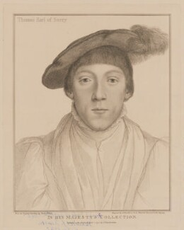 Henry Howard, Earl of Surrey, by Francesco Bartolozzi, published by  John Chamberlaine, after  Hans Holbein the Younger, published 1 April 1795 - NPG D40915 - © National Portrait Gallery, London