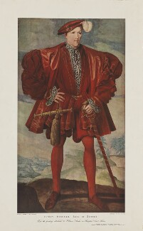 Unknown man formerly known as Henry Howard, Earl of Surrey, published by The Art for Schools Association, after  Walter L. Bourke, after  Unknown artist - NPG D40918