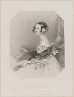 Emily Ashley-Cooper (née Cowper), Countess of Shaftesbury when Lady Ashley, by Edward Francis Finden, printed by  McQueen (Macqueen), after  John Hayter - NPG D40668